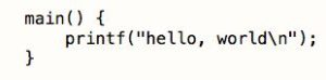 Hello, World! written for C